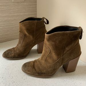 Zara Suede Ankle Boot